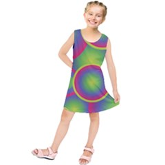 Background Colourful Circles Kids  Tunic Dress