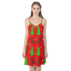Reindeer and Xmas trees pattern Camis Nightgown