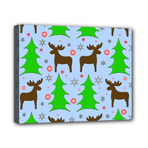 Reindeer and Xmas trees  Canvas 10  x 8