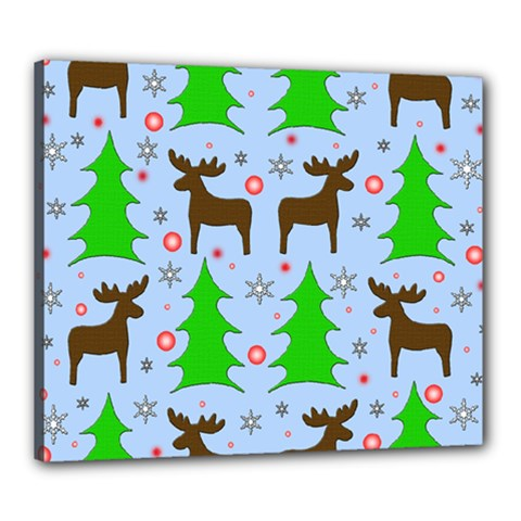 Reindeer and Xmas trees  Canvas 24  x 20