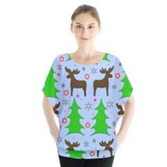 Reindeer And Xmas Trees  Blouse