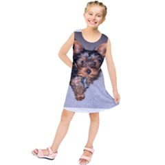 Yorkshire Terrier Puppy Kids  Tunic Dress