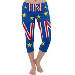 Britain Eu Remain Capri Yoga Leggings