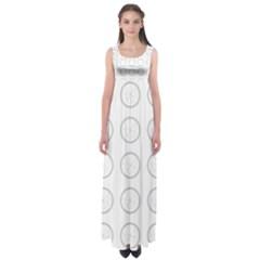 Butterfly Wallpaper Background Empire Waist Maxi Dress