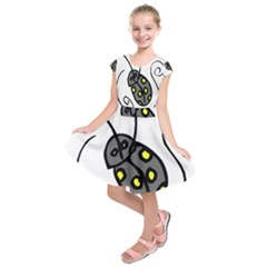 Cartoon Insect Kids  Short Sleeve Dress
