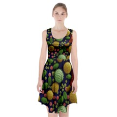 Colorized Pollen Macro View Racerback Midi Dress