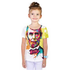 Abraham Lincoln Kids  One Piece Tee