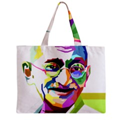 Ghandi Medium Zipper Tote Bag