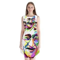 Ghandi Sleeveless Chiffon Dress