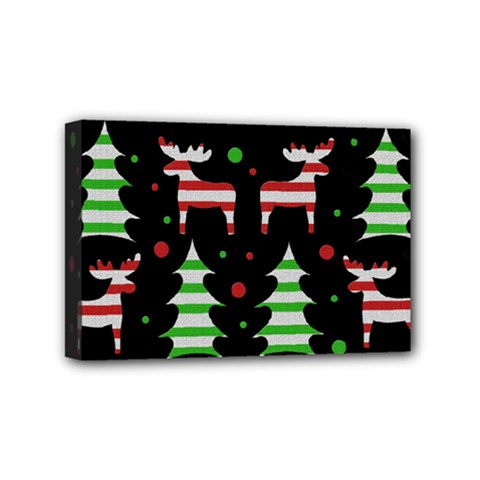 Reindeer decorative pattern Mini Canvas 6  x 4