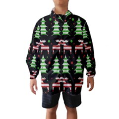 Reindeer decorative pattern Wind Breaker (Kids)