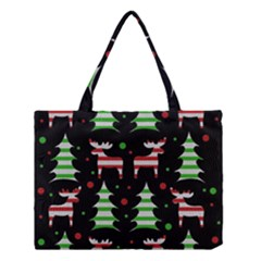 Reindeer Decorative Pattern Medium Tote Bag