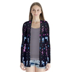 Blue and pink reindeer pattern Cardigans