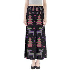Reindeer Magical Pattern Maxi Skirts