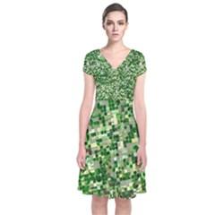 Crops Kansas Short Sleeve Front Wrap Dress