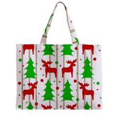 Reindeer elegant pattern Medium Zipper Tote Bag