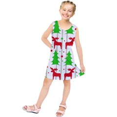 Reindeer elegant pattern Kids  Tunic Dress