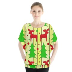 Xmas reindeer pattern - yellow Blouse