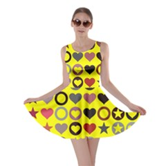 Heart Circle Star Skater Dress