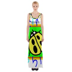 Insect  Ladybug Maxi Thigh Split Dress