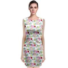 Happy Easter Classic Sleeveless Midi Dress