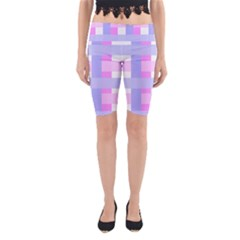 Gingham Checkered Texture Pattern Yoga Cropped Leggings