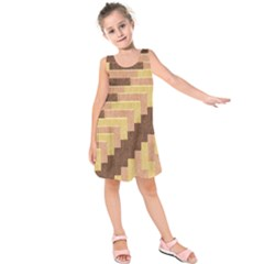 Fabric Textile Tiered Fashion Kids  Sleeveless Dress