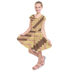 Fabric Textile Tiered Fashion Kids  Short Sleeve Dress