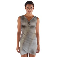 Scottish Deerhound Eyes Wrap Front Bodycon Dress