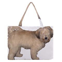 Tibetan Terrier Full Medium Zipper Tote Bag