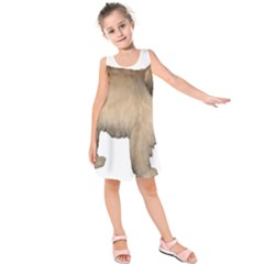 Tibetan Terrier Full Kids  Sleeveless Dress