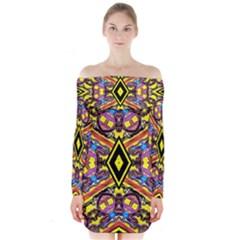 Spirit  Of Sweeden Redo Long Sleeve Off Shoulder Dress