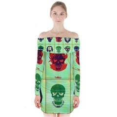 Suicide Squad Long Sleeve Off Shoulder Dress