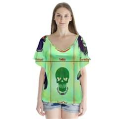 Suicide Squad Flutter Sleeve Top