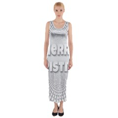 Oints Circle Christmas Merry Fitted Maxi Dress
