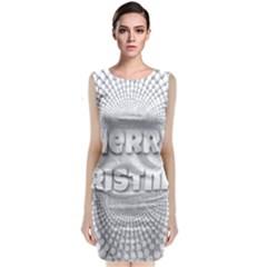 Oints Circle Christmas Merry Classic Sleeveless Midi Dress