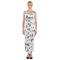 Paisley Floral Flourish Decorative Fitted Maxi Dress