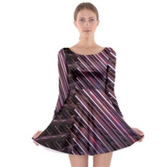Metal Tube Chair Stack Stacked  Long Sleeve Skater Dress