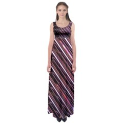 Metal Tube Chair Stack Stacked  Empire Waist Maxi Dress