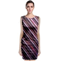 Metal Tube Chair Stack Stacked  Classic Sleeveless Midi Dress