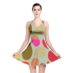 Pattern Design Abstract Shapes Reversible Skater Dress