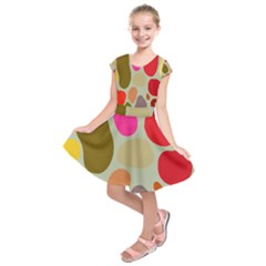 Pattern Design Abstract Shapes Kids  Short Sleeve Dress