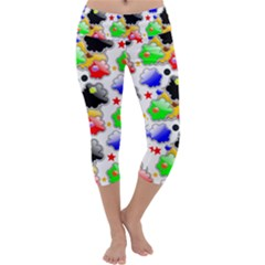 Pattern Background Wallpaper Design Capri Yoga Leggings