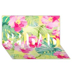 Tropical Dream Hibiscus Pattern #1 Dad 3d Greeting Card (8x4)