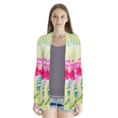 Tropical Dream Hibiscus Pattern Cardigans