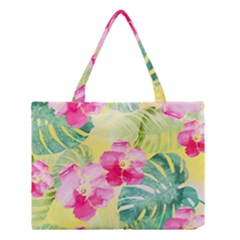 Tropical Dream Hibiscus Pattern Medium Tote Bag