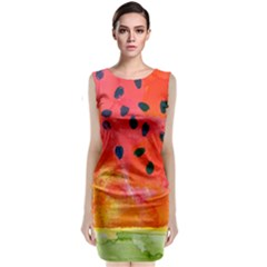 Abstract Watermelon Classic Sleeveless Midi Dress