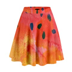 Abstract Watermelon High Waist Skirt