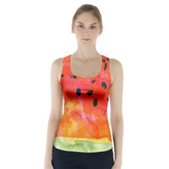Abstract Watermelon Racer Back Sports Top