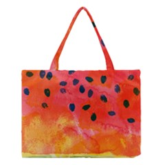 Abstract Watermelon Medium Tote Bag